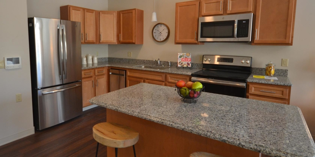Photo of a kitchen at Searles Place Independent Living in Windham